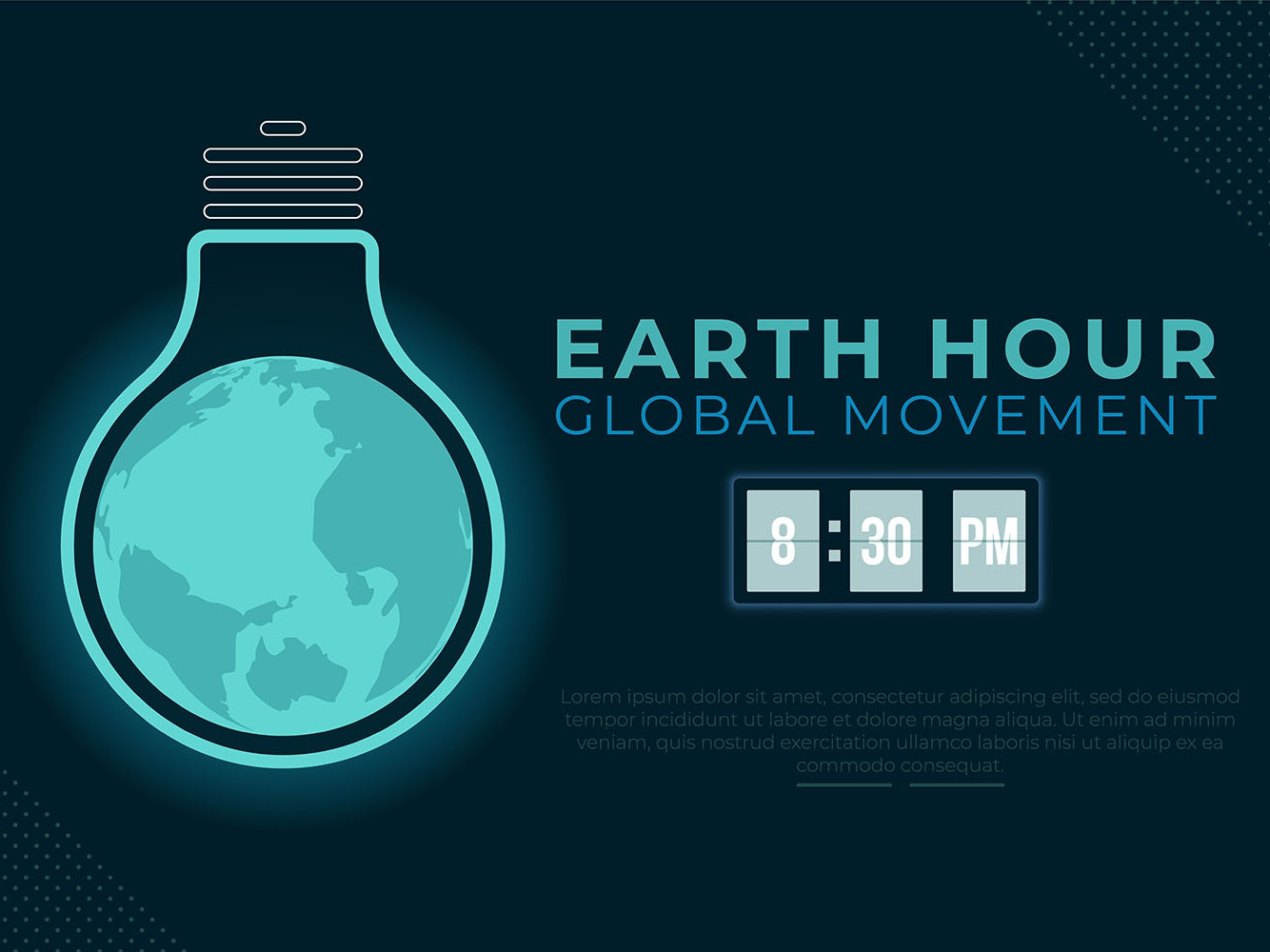 Earth Hour Background Page page web campaign earth day day hour earth background awareness illustration designs