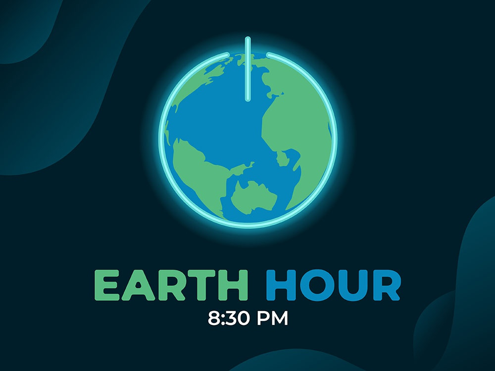 Earth Hour Day! environment icon power designs awareness landing page web illustration concept day hour earth