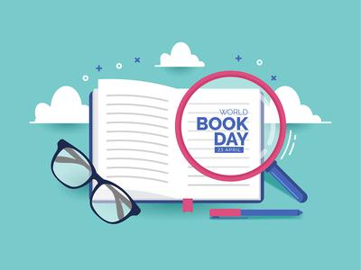 World Book Day Illustration Concept