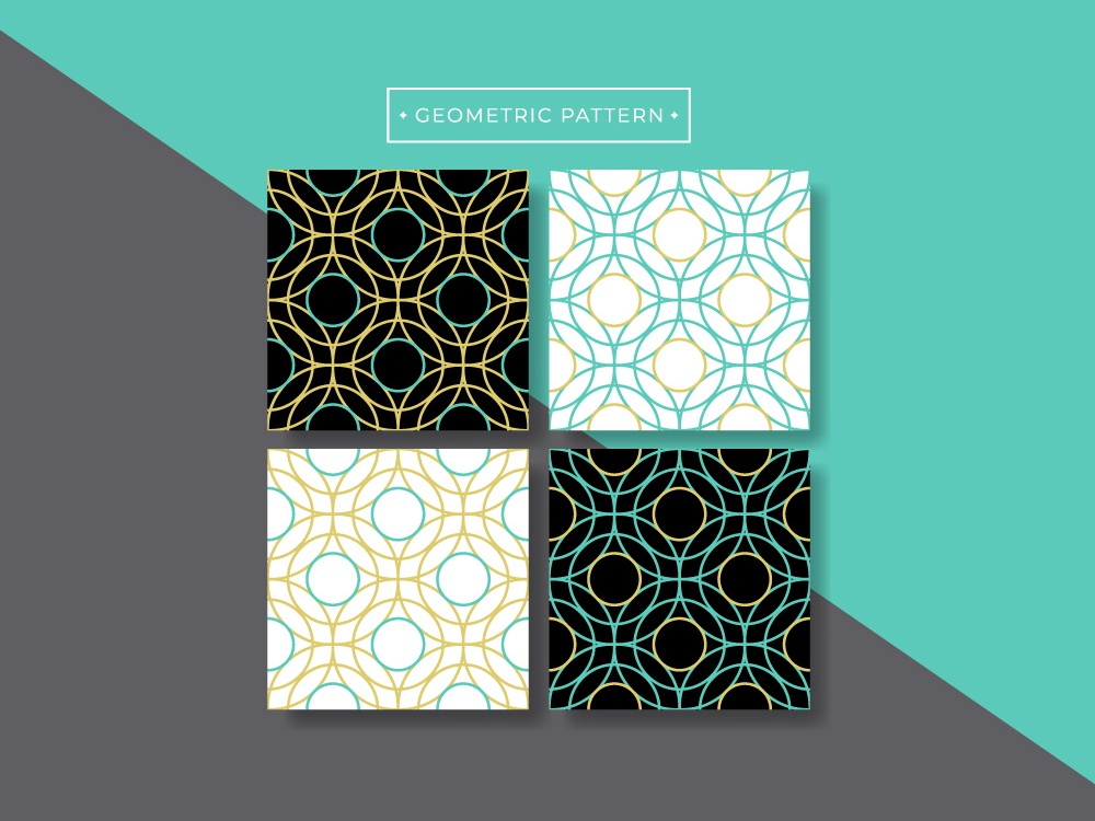 Geometric Pattern flat vector trendy gold abstract designs print surface pattern seamless