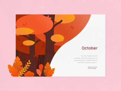October october illustrator trees blog autumn art illustration
