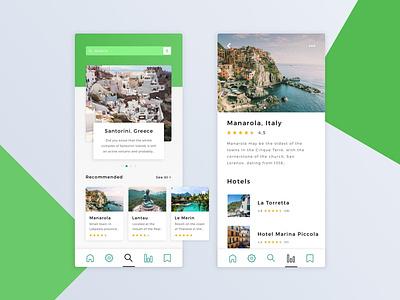 Travel Advisor | Mobile App design hotel ui design ios mobile booking travel app