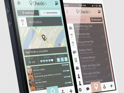 CheckIn // App Concept iphone app design ui interface ux usability mobile creative social