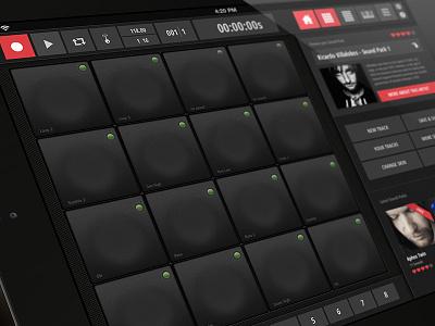 Soundmaker // Mobile App Concept iphone app sound production design ui interface ux usability mobile creative social
