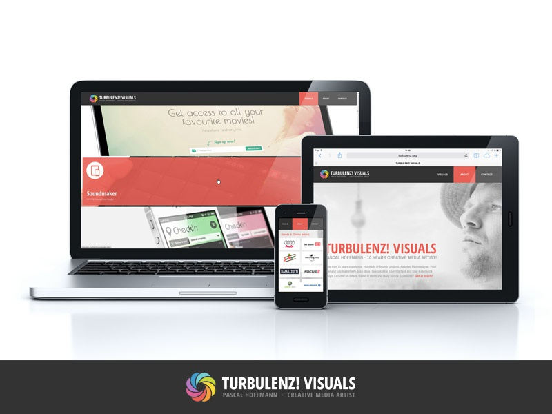 TURBULENZ! VISUALS  ·  Website web app design work visuals website landingpage artwork art webdesign screendesign