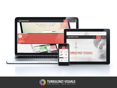 TURBULENZ! VISUALS  ·  Website web app design work visuals website landingpage artwork art webdesign screendesign