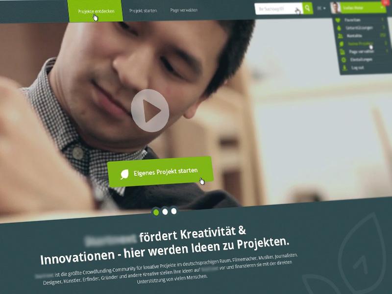 New design for biggest german crowdfunding platform art webdesign screendesign web app design work visuals website landingpage artwork
