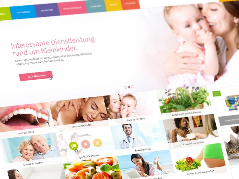 Started redesign for germanys most famous health care portal. web app design work visuals website landingpage artwork art webdesign screendesign