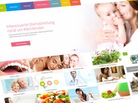 Started redesign for germanys most famous health care portal. web app design work visuals website landingpage artwork art webdesign screendesign
