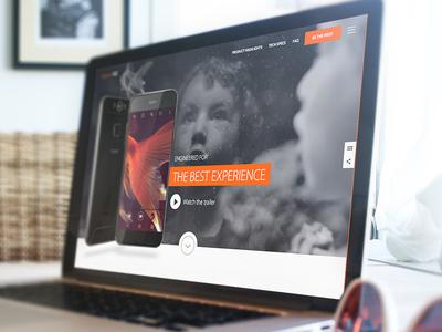 Gigaset ME mockup screen design ux ui website smartphone