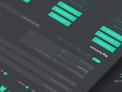 CREATIVO - Sketch Design System sketch designsystem typography interface usability creative ui ux webdesign screendesign