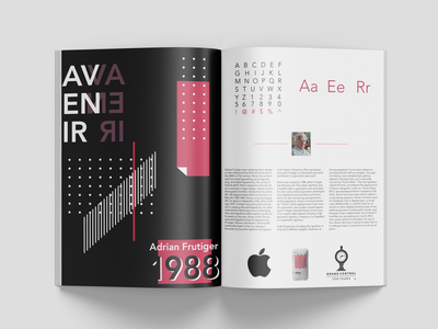 Double Page Spread for Avenir graphic design design avenir adobe illustrator adobe illustrator