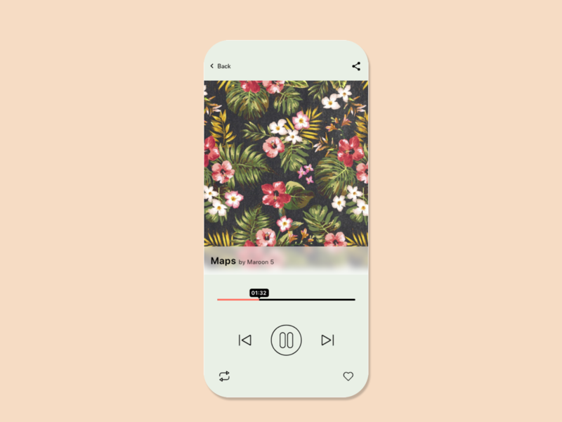 Dailu UI 09 - Music Player