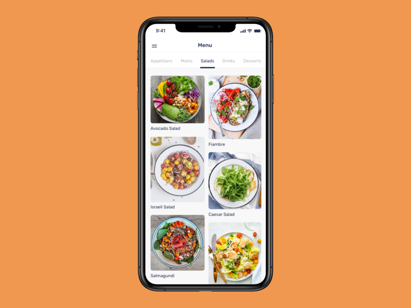 Daily UI 43 - Food/Drinks Menu menu food 100daysofui productdesign app design app ui mobile ios app ui dailyui design