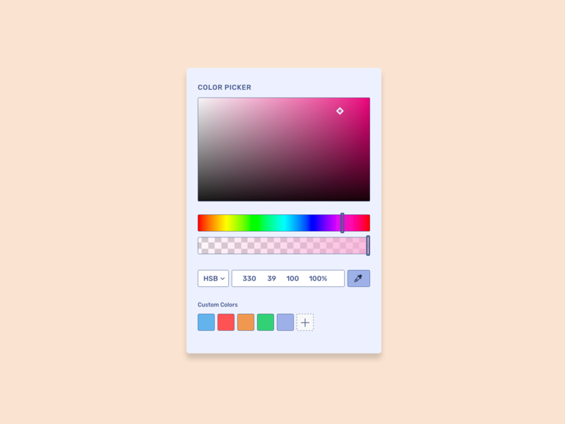 Color Picker UI picker color picker productdesign ux 100daysofui dailyui ui design