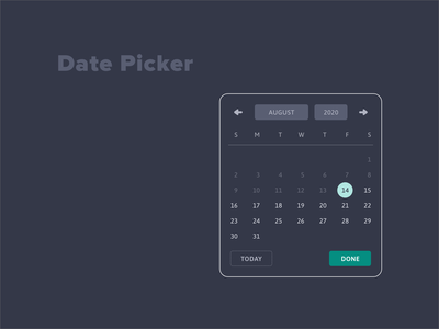 Date Picker UI web design calendar date picker ux 100daysofui productdesign ui dailyui design