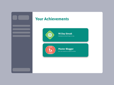 Badge UI badge design achievements badge illustration ux 100daysofui productdesign dailyui ui design