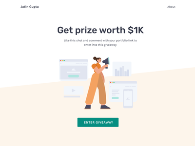 Giveaway UI giveaway giveaways web design ux 100daysofui productdesign dailyui ui design