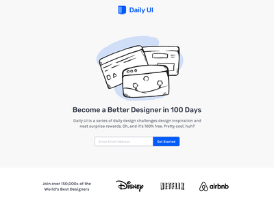 Daily UI Landing Page web design ux 100daysofui productdesign dailyui ui design