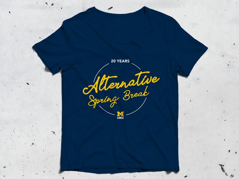 T-shirt design for alternative spring break tshirt design design graphic design