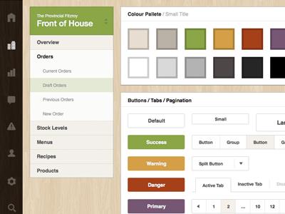 Admin UI / Colour scheme newism admin app