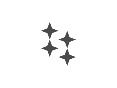 StarS s white space negative space logo