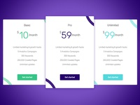 Pricing Tables Concept