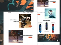 Skateboard Landing Page Exploration