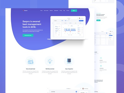 Software Landing Page Design software vector web app product agency colorful creative flat typography landing page gradient illustration dashboad analytics sass product website ux ui