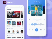 Music App XD Freebie