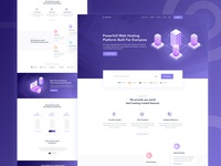 Hosting Landing page  Concept