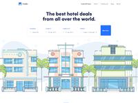 Hotel bookig landing