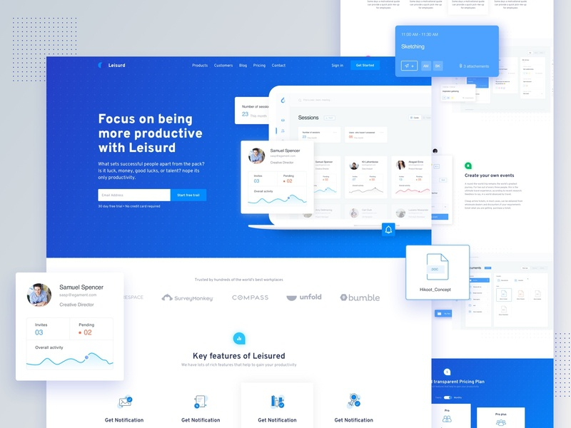 SaaS Software Landing Page product business startup trend minimal typography web app landing software sass data analytics app web design ux ui gradient colorful landing page illustration dashboard