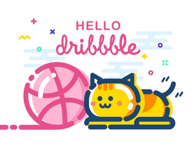 Hello dribbblers! hello dribble shot illustration first debut