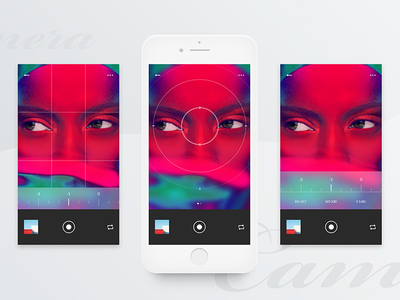 #4 Gamma-Camera Page ux ui white simple photography mobile minimalism clean ios