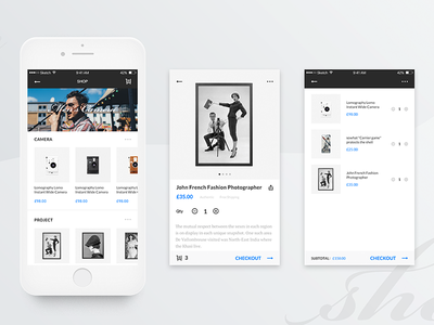 #5 Gamma-Shop Page ux ui white simple photography mobile minimalism clean ios