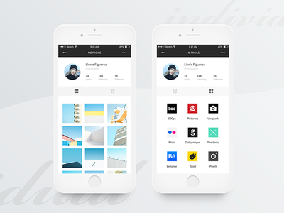 #6 Gamma-Individual Page ux ui white simple photography mobile minimalism clean ios