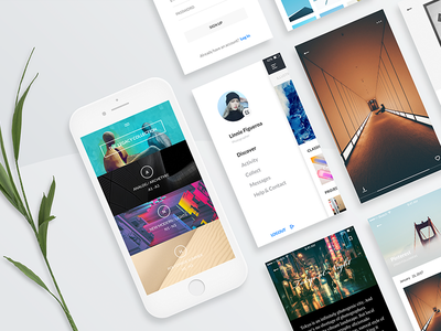 #7 Gamma-Other Page ux ui white simple photography mobile minimalism clean ios