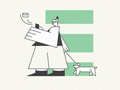 New attempt lines hand dog mail illustrator illustration design vector