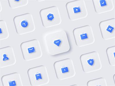 Skeuomorphic icon illustration white ux ui trends skeumorphic new design neutral icon elements clean design clean 2020 design