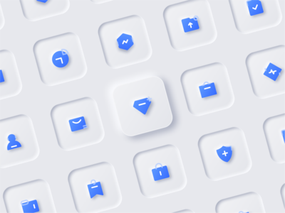 Skeuomorphic icon illustration white ux ui trends skeumorphic new design neutral icon elements clean design clean 2020 design