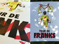 Tour De Franks 3-Color Screen Print