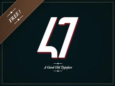 47 - Free Typeface 47 typeface font free moinzek