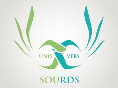 Unis Vers Sourds - Logo branding branding unis vers sourds logo association moinzek