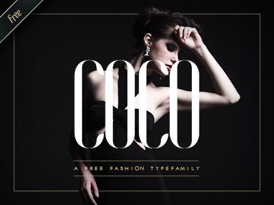COCO - Free Fashion Typefamily coco typeface typefamily typography font free gratuit moinzek fashion mode