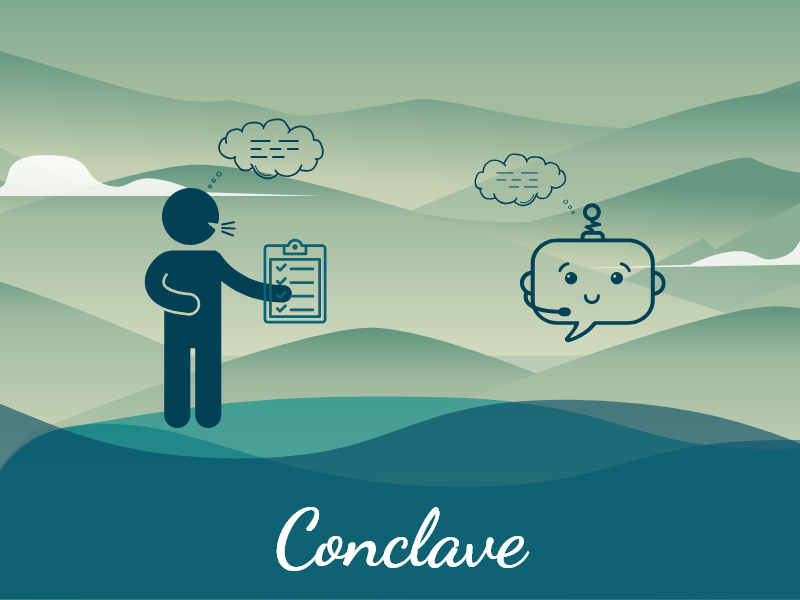 Conclave conversation chat web icon art ui illustration fun design