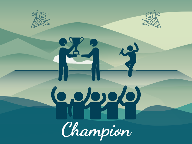 Champion branding ui xd fun illustration design champion