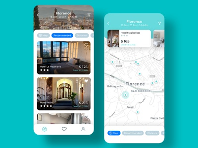 Oria Hotel Booking App UI Kit holiday vacation journey voyage voyager tourist booking hotel travel free ui kit figma sketch design kit ui mobile ios app