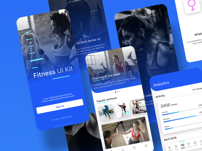 Scaldris UI Kit mobile ux ui app ui kit workout trainer sports life instructor health gym fitness fit exercise