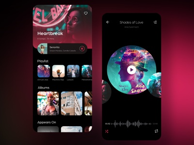 Rhino Music UI Kit music store ios videos template sketch news musicapp music player music app music layout community blog app